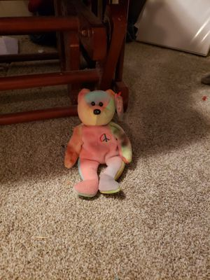 Peace Beanie baby bear. for Sale in Oregon City, OR