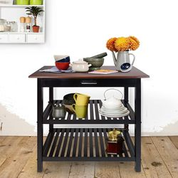 Home Kitchen Island with Solid American Hardwood Top, for Sale in Modesto,  CA
