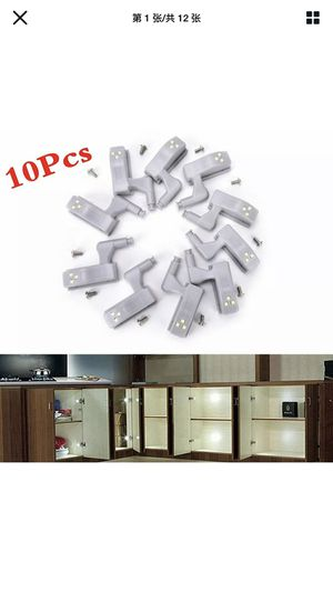 10 pcs LED Sensor Hinge Lights for Home Kitchen Cabinet Cupboard Closet Wardrobe for Sale in San Leandro, CA
