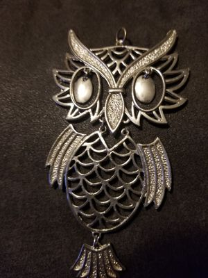 Vintage charm owl silver tone for Sale in Cayce, SC