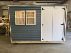"""8x10 vinyl shed , peak roof 40"""" double door for Sale in Weymouth, MA"""