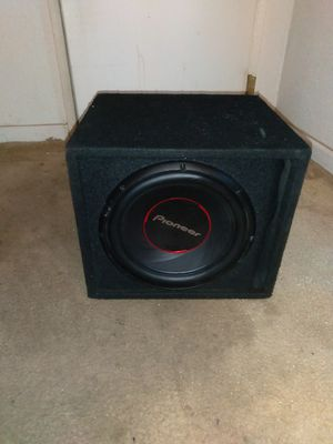"""PIONEER 12"""" SUB WITH BOX, PLUG AND PLAY! 100 OBO for Sale in Vallejo, CA"""
