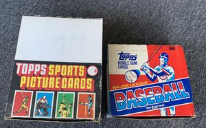 1987. Topps Rack Pack Box & 1988 Cello Packs Box of Topps Baseball Cards. All packs unopened and sealed for Sale in Brea, CA