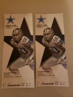 Cowboy tickets NOT FREE make an offer for Sale in Haslet, TX