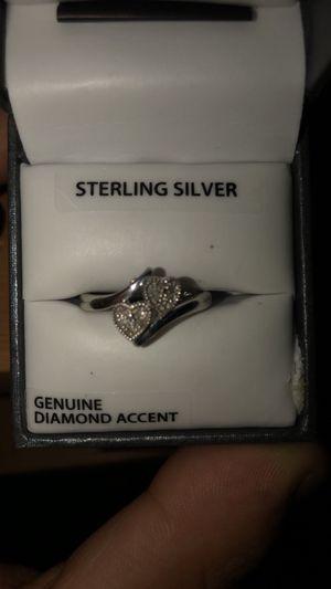 Genuine Diamond Sterling Silver Ring for Sale in Fresno, CA