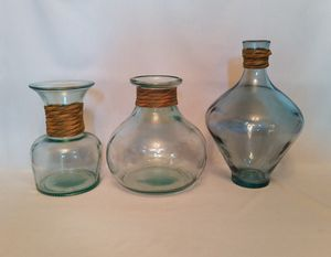 Set of 3 Decorative glass vases/jars/bottles for Sale in North Attleborough, MA