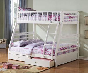 Twin over full bunkbed with mattress for Sale in West Park, FL