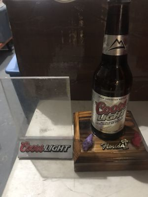 Coors lite bottle light with plastic frame all for $25 for Sale in Deerfield Beach, FL
