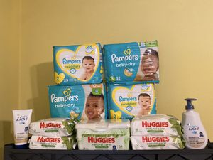 Pampers Diapers Baby Bundle *READ ENTIRE DESCRIPTION* for Sale in Grand Prairie, TX