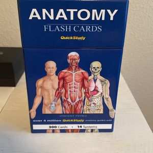Anatomy Flashcards That I Bought For A Class Then I Immediately Dropped It So I Never Used These for Sale in Merced, CA