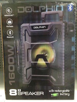 "Dolphin Portable 8"" Speaker Portable with USB FM Radio Rechargeable Bocina Corneta Inalámbrica Recargable SP-806RBT for Sale in Miami, FL"