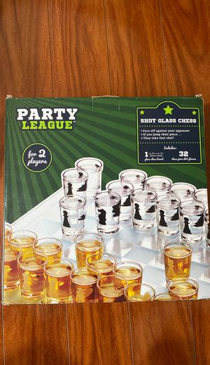 Chess Board Shot glasses Drinking game for Sale in Miami, FL