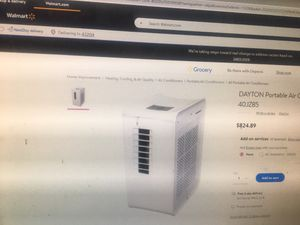 Almost new Dayton portable commercial/residential 10,000 btu a/c with heat and dehumidifier works great for Sale in Columbus, OH