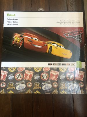 Cricut Paper Disney Cars 3, Victory is Mine for Sale in Pomona, CA