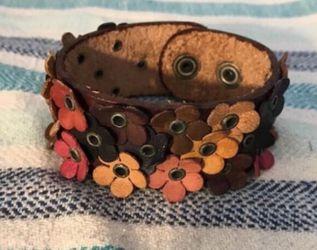 Leather floral bracelet for Sale in Arlington,  VA