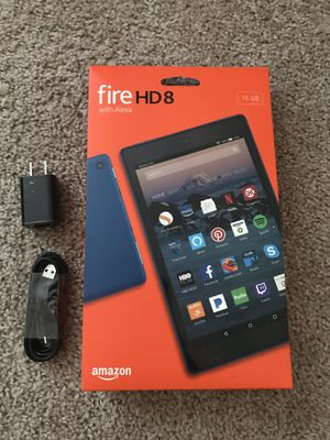 Amazon fire HD8 box (no tablet) and original charging adapter with cable for Sale in Westerville, OH