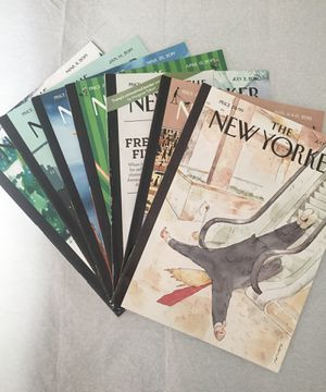 7 THE NEW YORKER MAGAZINES FROM 2018 and 2019 for Sale in Chicago, IL
