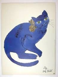 Andy Warhol original blue cat poster 1996 for Sale in Fort Lauderdale, FL
