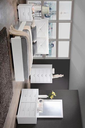 Brahma White King Panel Bedroom Set | BR1235 MYCO for Sale in Houston, TX