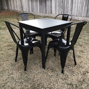Black IKEA Square Dining Table And Chairs for Sale in Fresno, CA