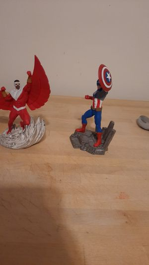 Captain America and the Falcon figures collectables for Sale in North Providence, RI