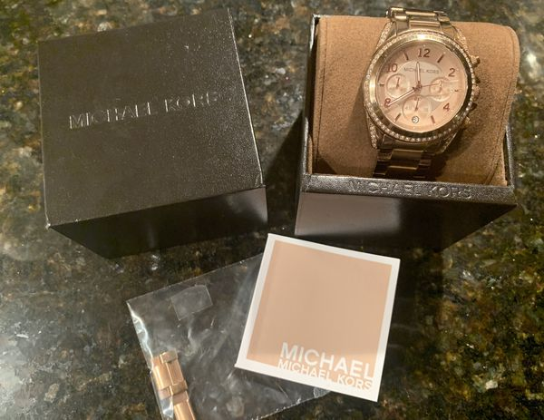 Michael Kors Ritz Pave Watch - Rose Gold