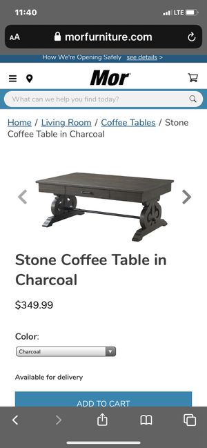 Coffee Table-Charcoal for Sale in Rancho Mirage, CA