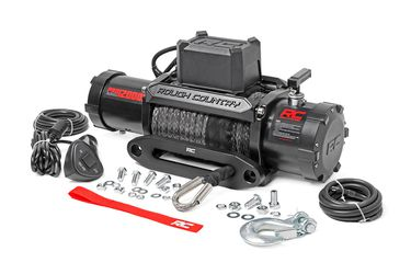 12000 lb Synthetic Winch Electric Winch for Off Road Recovery - Rough Country Pro Series Electric Winch for Sale in Fullerton,  CA