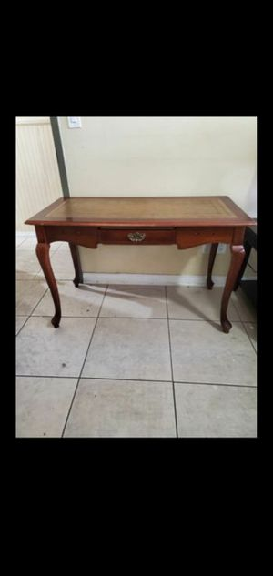 Antique Leather Top Writing Table for Sale in Spring Valley, CA