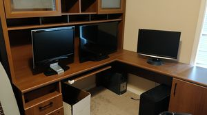 OFFICE DESK. BOOK SHELF. CORNER COMPUTER TABLE for Sale in Brush Prairie, WA