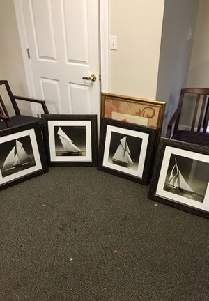 4 set of boat art for Sale in Charlottesville, VA