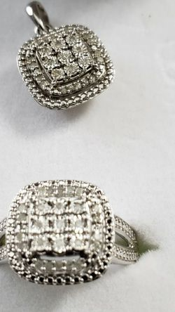 1/3 ct tw Diamond Sterling Silver Ring And Pendant for Sale in New Windsor,  NY