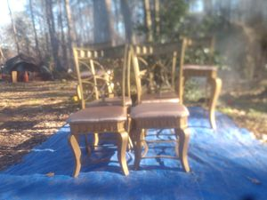 Gold Chairs with Bar Chairs for Sale in Conyers, GA