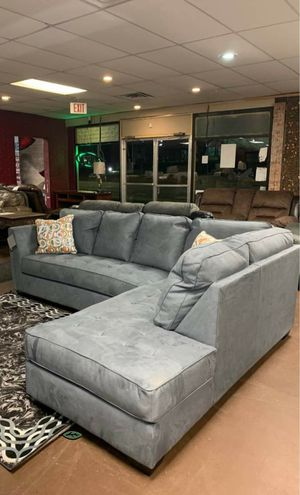💲39 Down Payment 🍃Best Deal Filone Steel RAF Sectional for Sale in Laurel, MD