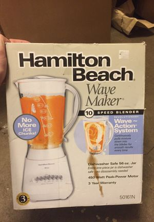 Hamilton Beach Speed Blender Wave Maker, No ice chunks for Sale in Harrisburg, NC