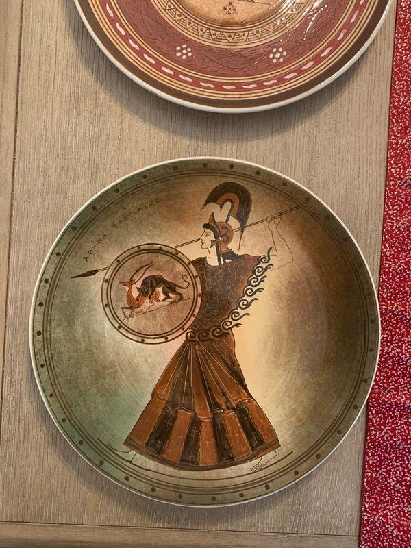 Vintage decorative Greek plates