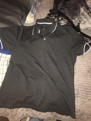 Banana Republic Short Sleeve shirt Black with Grey and white XL for Sale in Aspen Hill, MD