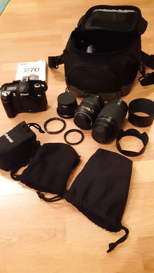 Nikon D70 camera with 3 lenses for Sale in Sterling, VA