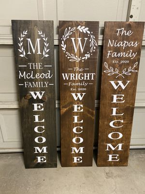 Custom made welcome signs for Sale in Woodland, CA
