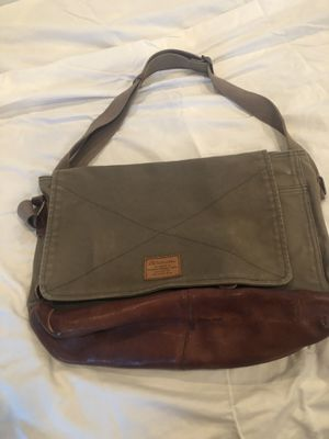 Canvas and leather lucky brand messenger bag for Sale in Arlington, VA