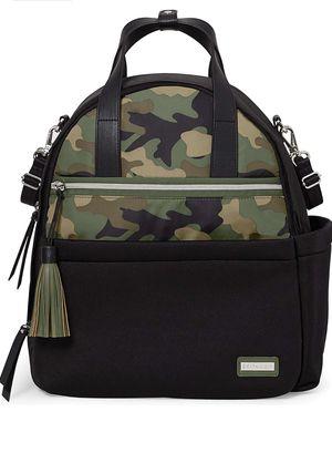 Skip Hop Diaper Backpack Bag Skip Hop Nolita Neoprene Diaper Backpack - Black/Camo for Sale in Duvall, WA