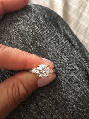 Sterling silver crystal ring 35$ firm size 6 for Sale in Elk Grove, CA