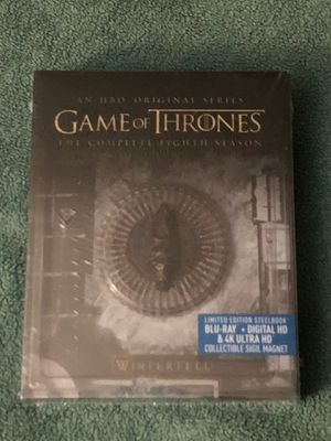 GAME OF THRONES SEASON 8 LIMITED EDITION 4K ULTRA HD STEELBOOK + BLU-RAY SEALED for Sale in Countryside, IL