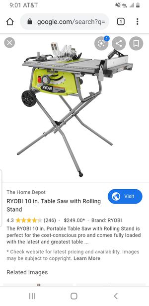 Ryobi 10 in table saw brand new for Sale in Mountain View, CA