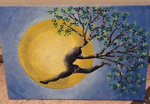 4x6 dancing tree painting for Sale in Rancho Cucamonga, CA