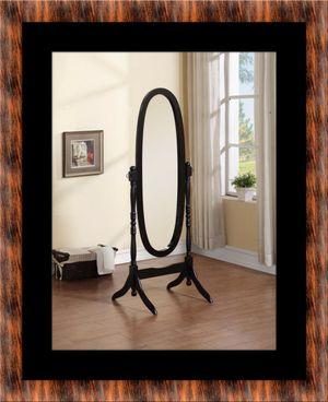 Black swivel oval mirror for Sale in Rockville, MD