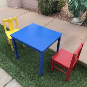 IKEA Kids Toy Table & Chairs Set for Sale in Phoenix, AZ
