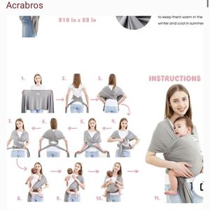 Acrabra Black Baby Wrap / Carrier for Sale in New Port Richey, FL