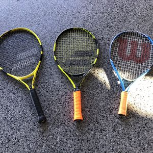 Babolat And Wilson Kids Tennis Rackets for Sale in San Diego, CA