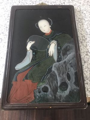 Antique Chinese reverse painting on glass for Sale in Duluth, GA